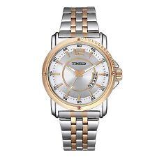 Tempo 100 Uomini Big Face Data Quadrante Orologio luminoso banda in acciaio gold orologi al quarzo #1