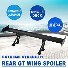 GT Rear Heckflügel Aluminium Spoiler Heckspoiler Tail Wing Universel Schwarz Kit