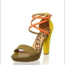 Anthropologie KELSI DAGGER MacKenna Strappy Heels Snake Print Sandals NEW 7 M