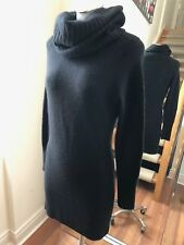 UNKNOWN Lot of 2 Black & Grey Turtleneck Sweater Lana Mohair Dress Retail $500