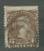 "CANADA #27 USED LARGE QUEEN 2-RING NUMERAL CANCEL ""?"""