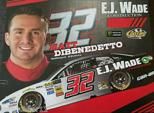 "2017 MATT DIBENEDETTO ""EJ WADE RICHMOND"" #32 MONSTER ENERGY NASCAR CUP POSTCARD"