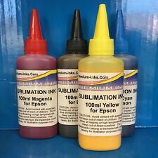 4x100ml SUBLIMATION INK Refill Bottles Epson WF2010 W WF2510 WF2520 NF WF2530 WF