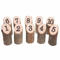 Rustic 1-10 Wooden Table Numbers Wedding Birthday Party Centerpieces Decor B DA