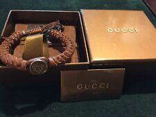 Bracciale Gucci In Pelle Marrone