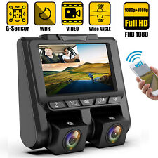 WIFI HD 1080P Dual Lens Car DVR Camera Vehicle Dash Cam Video Recorder G-sensor