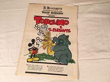 TOPOLINO E L'ELEFANTE inserto IL MESSAGGERO 12 AGOSTO 1989