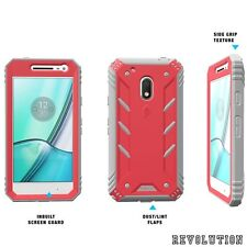 Case For Motorola Moto G4 Play POETIC【Revolution Series】Built-In Screen Pink