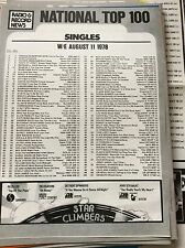 p1-3 ephemera singles national record chart w/e 1978 11/8 travolta john