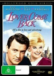 LOVER COME BACK DVD 1961 NEW Region 4 Rock Hudson, Doris Day, Tony Randall