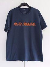 Tamaño L Mens STABO Azul ciclo Camiseta de algodón