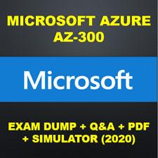 Microsoft Azure Architect AZ-300 Exam PDF QA & SIMs (2020)