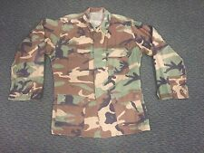 US ARMY VINTAGE CAMO BDU SHIRT USED WOODLAND SMALL MEDIUM VINTAGE JACKET
