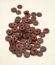 Beads African Rust Round Flat Glass Beads 8-10mm