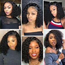 Woman Wig Curly Human Hair Wig Synthetic Hair Wigs Ladies Costume Dark Black Wig