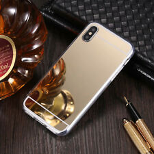 Ultra Thin Mirror Back Soft TPU Case Cover For i Phone 6/7/8/X & S9 Plus Xiaomi
