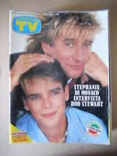 TV SORRISI E CANZONI 44 1986 Stefania di Monaco Rod Stewart Viola Valentino G797