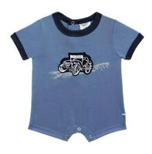 Oshkosh B'gosh Cadet Blue Car Applique Romper Infant/Baby Boy Clothes, 24 months