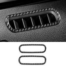 Car Door Air Vent Outlet Frame Trim Ring For Ford Mustang 2009-2013 Carbon Fiber
