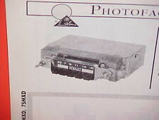 1966 1967 RENAULT DAUPHINE CARAVELLE CONVERTIBLE R8 R-10 AM RADIO SERVICE MANUAL