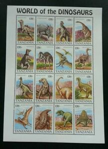 [SJ] Tanzania World Of The Dinosaurs 1994 (sheetlet) MNH *minor toning