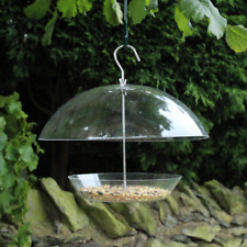 Hanging Bird Seed Feeder Garden Adjustable Dome Seed Tray Outdoors Small Birds