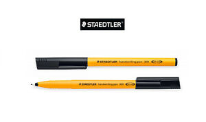 New Staedtler 309-9 Handwriting Pen Black Ink Width Fibre Tip 0.6mm_3x,5x,10x