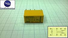 Relè 12V, Relay 12Vdc, circuito stampato, 2 contatti, 1A, HRS2H-S-DC12V-N