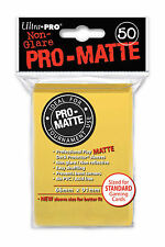 1 box 600 Ultra Pro-Matte Deck Yellow Protector Sleeves MTG Magic The Gathering