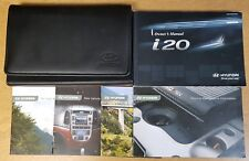 GENUINE HYUNDAI i20 2008-2012 OWNERS MANUAL HANDBOOK WALLET SERVICE BOOK # E-968