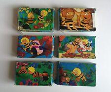 6 x MINI PUZZLE - CLEMENTONI GIOCHI - APE MAIA - 1980 - cartoni animati
