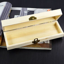 Pen Case Handmade Wooden Pencil Box Storage Organizer Cute Hollow White