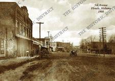 "Florala, Alabama 1908 5x7"" Sepia Photo FREE SHIPPING!"