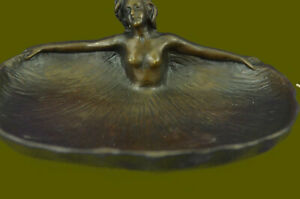 Handcrafted bronze sculpture Decor Female Nude Ctray Dish Rubin By Soaking Sale
