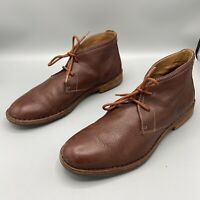 Trask Brown Leather Lace Up Vibram Sole Ankle Boots Men's Size 9 M