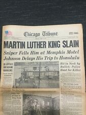 Martin Luther King Assassination - Civil Rights - 1968 Chicago Tribune Newspaper