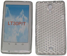Pattern Gel Case Protector Cover For Sony Ericsson Xperia T LT30P LT30i Clear UK
