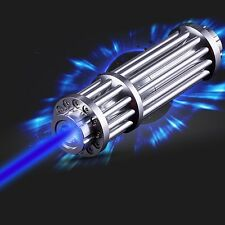 450NM Blue Laser Pointer Burning Focus Adjustable Cigarette Lighter 5mW Star Cap