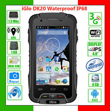 Smartphone dual sim iGlo DK20 3G NFG resistente all'acqua (waterproof) Nero/Nero