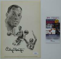 Elgin Baylor Los Angeles Lakers SIGNED Autographed 7.75x11 Photo Print JSA COA