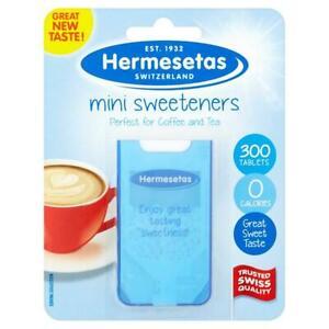 6 x Hermesetas Mini Sweeteners Original 300 Tablets 0 Calories
