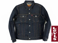 Levi's Men's Rigid Blue Trucker Raw Denim Jacket Levis 72334-0207