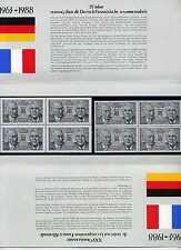 Faltblatt 25 Jahre Zusammenarbeit Deutschland 1351 Frankreich 2636 ** BRS1030