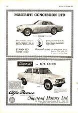 Maserati 3500GTI Sebring Coupe Alfa Romeo Gulia TI British Aluminium Prestrim