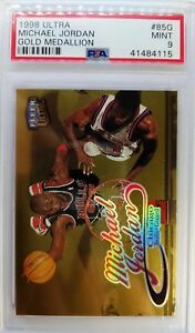 1998-99 ULTRA Michael Jordan Gold Medallion #85G, Parallel! Graded PSA 9 Low Pop