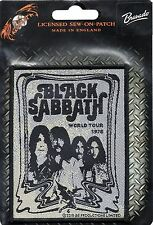 BLACK SABBATH-World Tour 1978-White-Woven-Official Sew-on Patch-Brand New