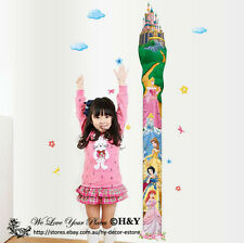 Disney Princess Height Measurement Removable Wall Stickers Wall Decal Kids Room