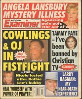 OCT 29 1996 NATOINAL EXAMINER tabloid magazine ANGELA LANSBURY - LARRY HAGMAN