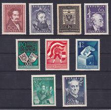 Österreich Jahrgang  1950 postfrisch** 9 Werte