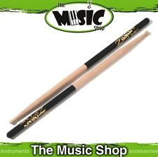 3 Pairs Zildjian 7A Hickory Drumsticks Black Dip w Wood Tips - 7AWD Drum Sticks